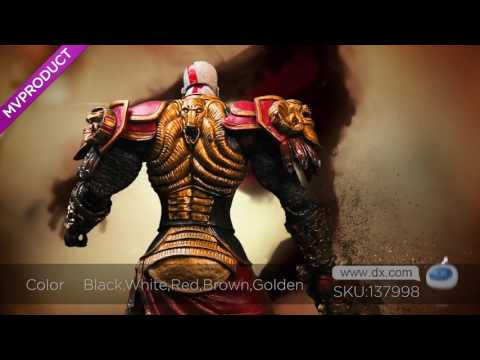 DX:God of War 2 PVC Action Figure Display Toy Doll - Kratos in Ares Armor with Blades