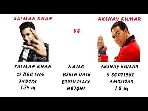 Salman Khan Vs Akshay Kumar Comparison