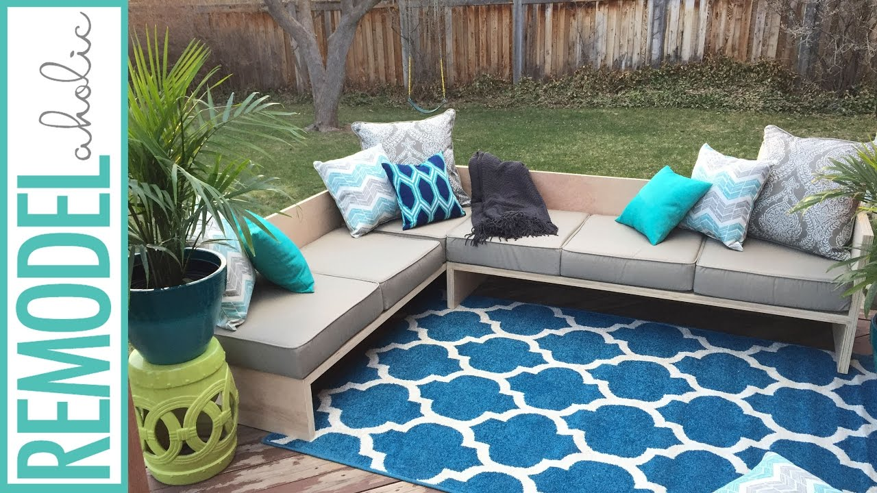 do it yourself patio chair cushions ak rocker diy modern outdoor sofa sectional plywoodpretty youtube