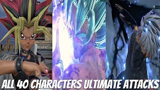 JUMP FORCE - All Characters Ultimate Attacks & Transformations (All 40 Characters) Full Game Roster