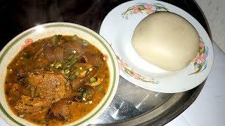 efere etihi ye mbukpab uyo (mix okoro and ogbono soup)