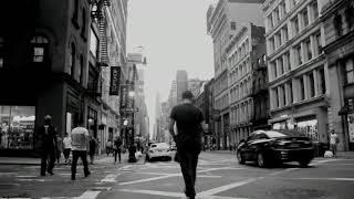 Clip preto e branco da vida na cidade moderna