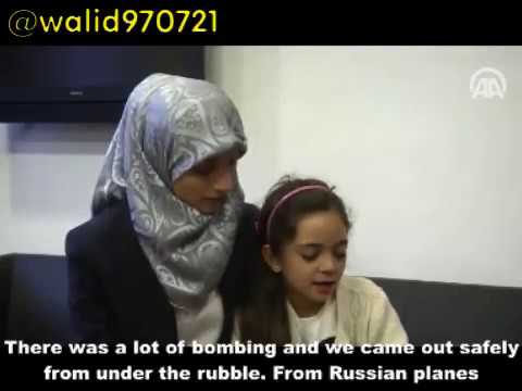 Fake Child Activist Bana Alabed with Terror-Mom Fatemah Whispering Answers in her ear
