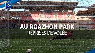 Les Bleus face au but avant France-Paraguay