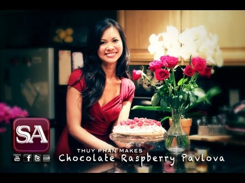 "SAFIRE TV : ""How to make Chocolate Raspberry Pavlova"" with Thuy Phan"