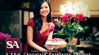 SAFIRE TV : How to make Chocolate Raspberry Pavlova with Thuy Phan