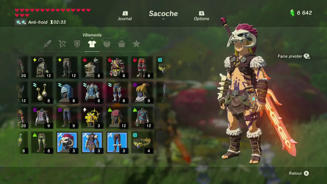 The Legend of Zelda: BotW - Guide de la tenue Barbare