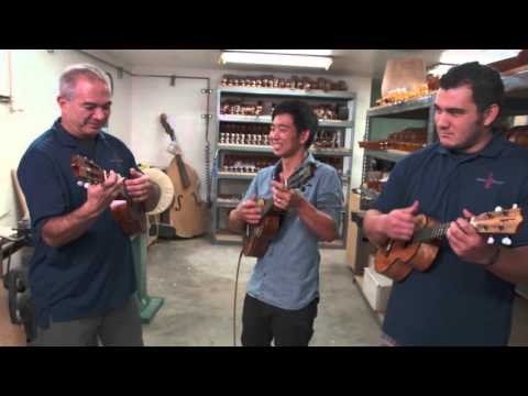Mix - Jake Shimabukuro, Chris Kamaka and Chris Kamaka Jr. play Hi'ilawe