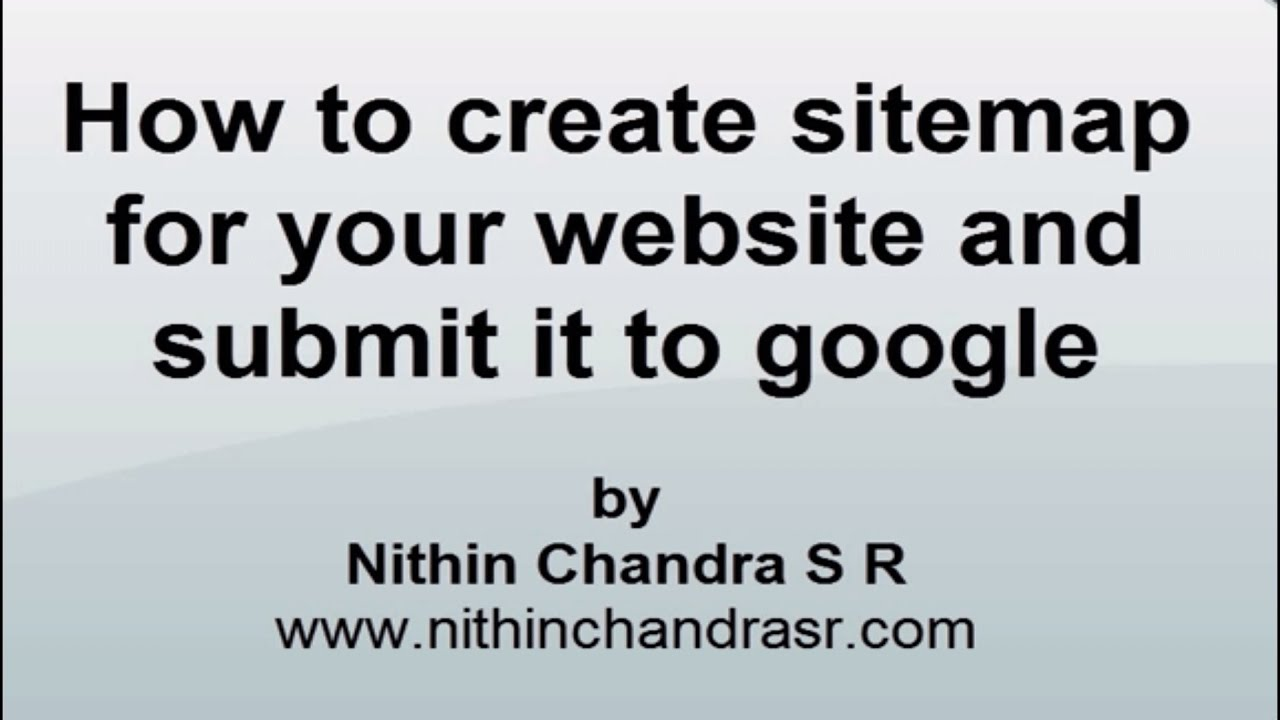 create sitemap for your website and submit it to google seo youtube