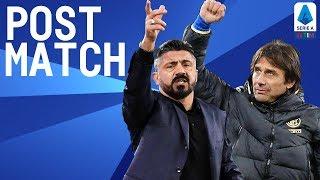 Napoli 1-3 Inter | Gattuso & Conte Post Match Press Conference | Serie A TIM