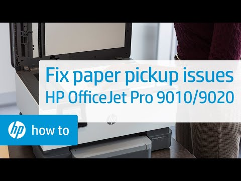 Fix the HP OfficeJet Pro 9010/9020 Printer Series When It Doesn't Pick Paper | HP OfficeJet | HP