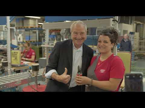 Stéphane Marie, notre nouvel ambassadeur visite notre usine
