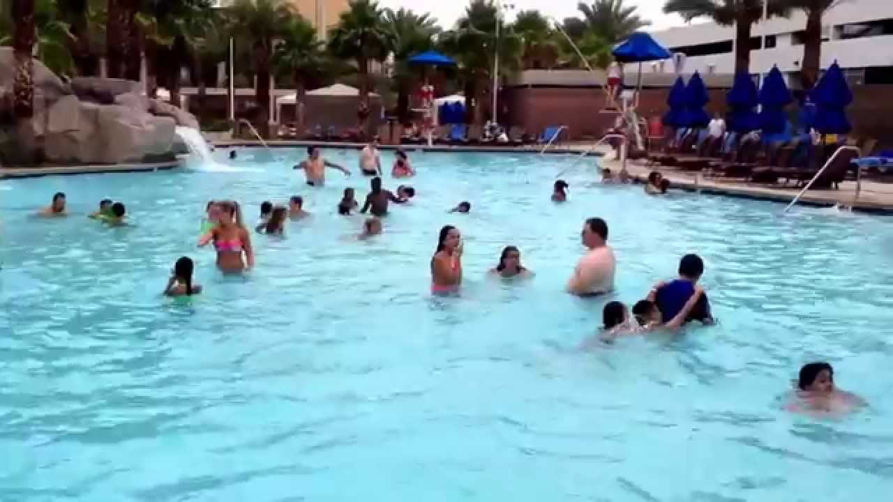 Pool Time At Excalibur Hotel Youtube