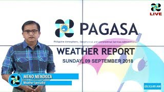Public Weather Forecast Issued at 4:00 PM September 09, 2018