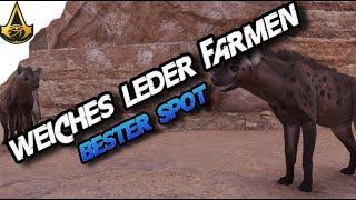 Assassins Creed Origins - Best farming Spot Soft Leather  - AC Origins
