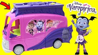 VAMPIRINA Hauntley's Mobile Movie Theatre Playset and Doll House with TOY SURPRISES