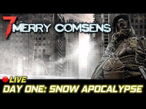Snow Apocalypse | Merry Comsen Mod | 7 Days To Die Gameplay | EP1