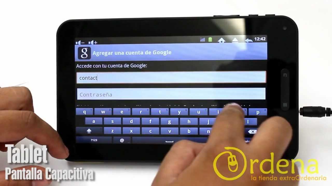 Tablet Android 2.3- 7 pulgadas Pantalla Capacitiva - YouTube