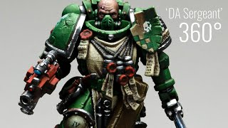 Dark Angels Primaris Sergeant - 28mm Miniature Art by Roman Lappat, Games Workshop