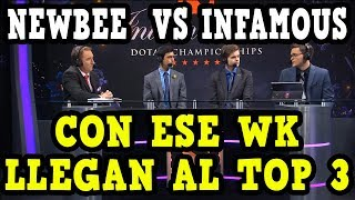 GRINGOS SE MOJAN CON INFAMOUS | NEWBEE VS INFAMOUS | THE INTERNATIONAL 2019 | DOTA 2