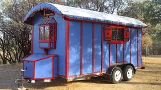 Man Simplifies By Building Custom Gypsy Wagon Tiny House