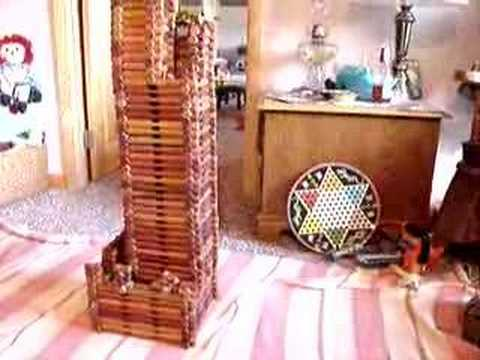 World S Tallest Lincoln Log Structure Youtube