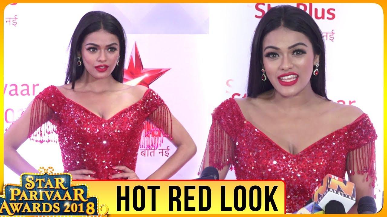 Sonya Pink aka Ruby From Nazar Hot Red Look at Star Parivaar Award Show 2018