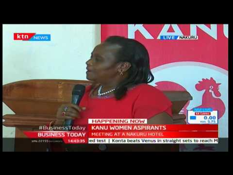 KANU Women Aspirants Meet With Gideon Moi In Nakuru