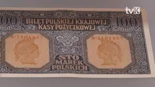 Wystawa banknotów polskich w Muzeum Papiernictwa