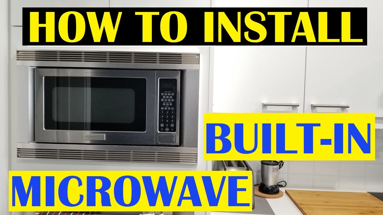 how to install a built in microwave with trim kit
