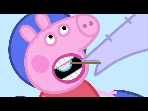 Peppa Pig 艢winka Peppa po Polsku | Dentysta | Kompilacja klip贸w | Bajki Po Polsku