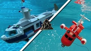 RC LEGO SUBMARINE! (with ballistic missiles)