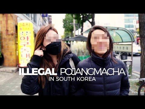 Illegal Food Shop in Seoul, South Korea