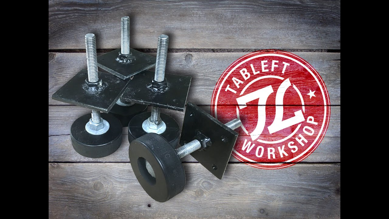 BUILD: Hockey Puck Leveling Feet   YouTube