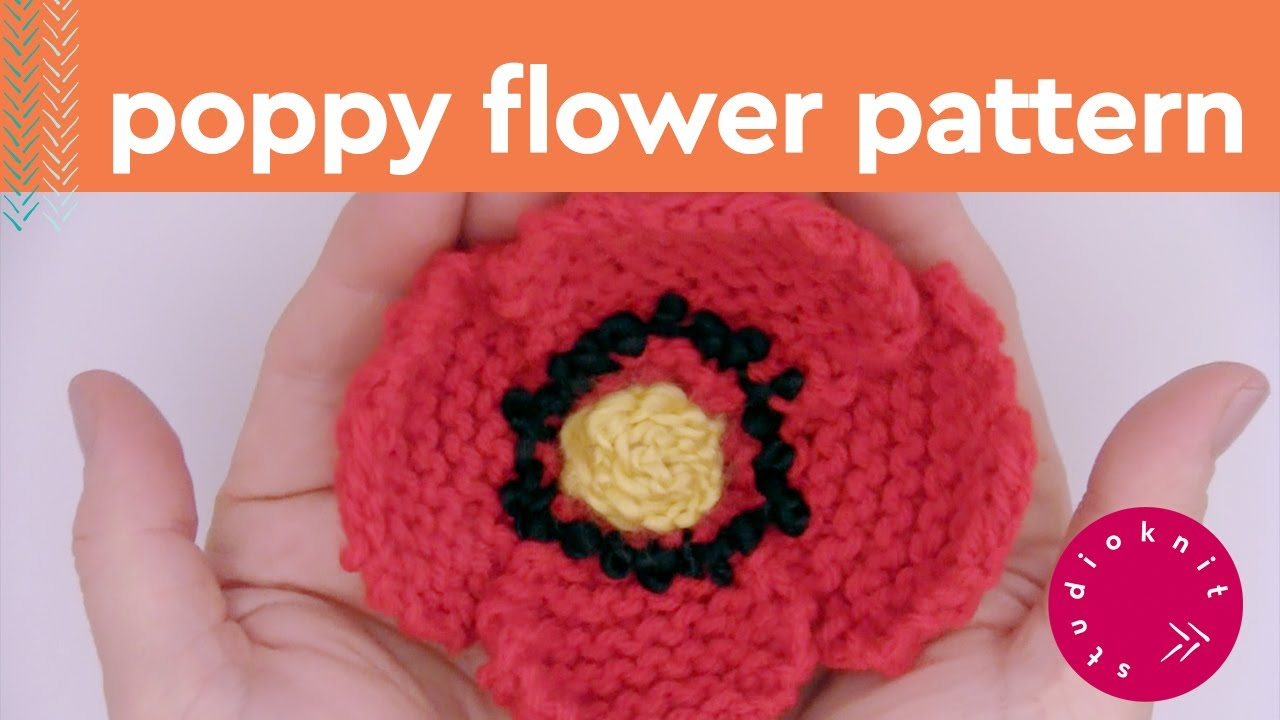 How to knit a poppy flower summer knit series youtube how to knit a poppy flower summer knit series mightylinksfo