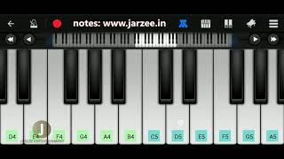 Tum Hi Aana (Marjaavaan), Jubin Nautiyal | Easy Mobile Perfect Piano Tutorial