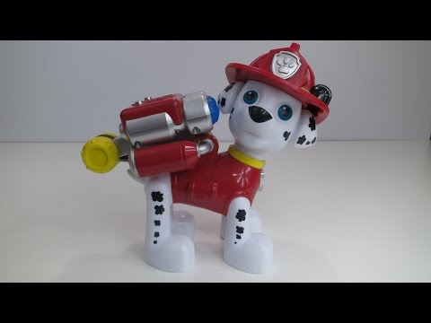 Kids toy PAW PATROL Marshall water cannon practice