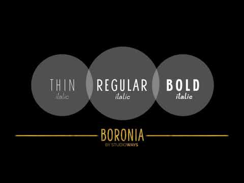 Boronia Fonts from Studioways