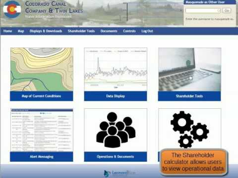 Colorado Canal Water Information Dashboard