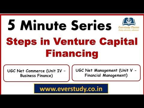 Steps in Venture Capital Financing |  5 Minute Series | NTA UGC Net Commerce & Management
