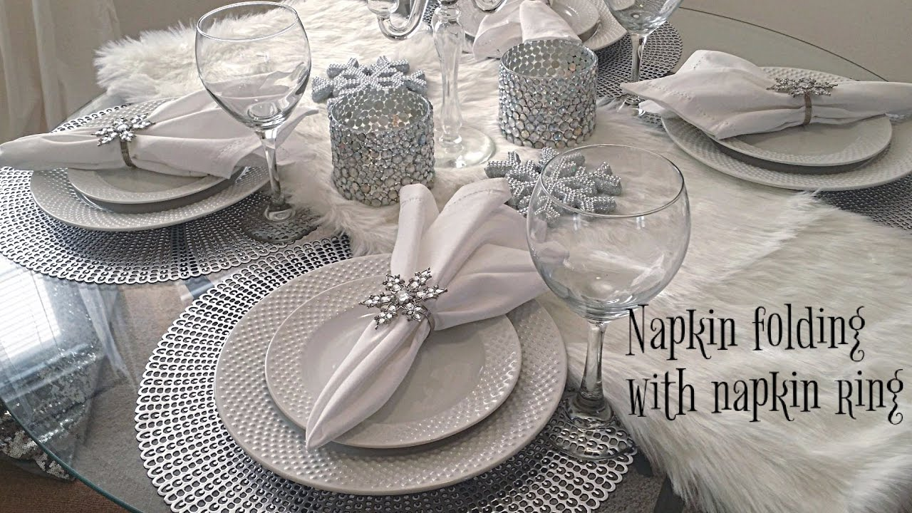 Napkin Folding w/ Napkin rings - YouTube