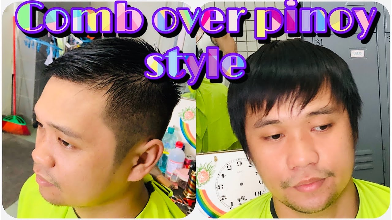 COMB OVER HAIRCUT/ BEST HAIRSTYLE FOR MEN / HAIRCUT TUTORIAL (TAGALOG)