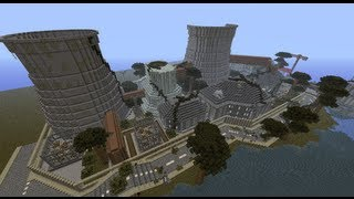 Minecraft - Building an Apocalyptic City Ep. 3 - Nuclear Power Plant (Timelapse)