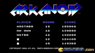 Arkanoid gameplay (PC Game, 1986)