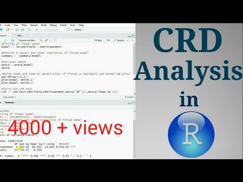 Completely Randomized Design Analysis In R Along With LSD Test