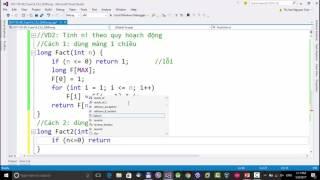 Kỹ thuật lập trình UTE: (Buổi 14_2) Quy hoạch động - Giai thừa