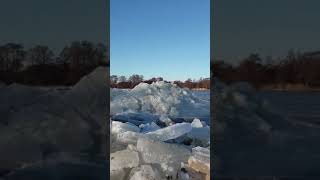 Video Shows Compacted Ice Move Downstream in Lithuania