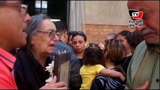 انهيار زوجة أحد ضحايا الطائرة المنكوبة أثناء «القداس»