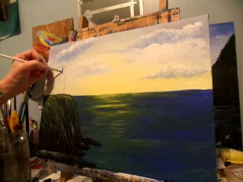 How To Draw And Paint A Lighthouse Acrylic Painting Lesson