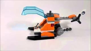 Лего Арктика. Пошаговая сборка вертолета.